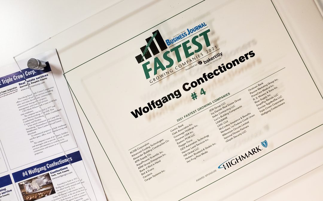 Wolfgang Named 4th Fastest Growing and Manufacturer of the Year